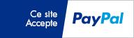 Ce site accepte Paypal