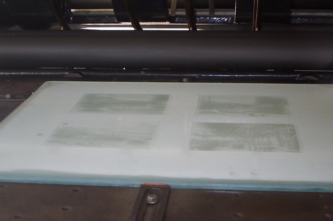 Photo Avant tout encrage de la plaque, l'image à imprimer est parfaitement visible