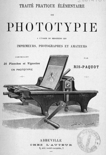 Traité pratique de Phototypie Ris-Paquot